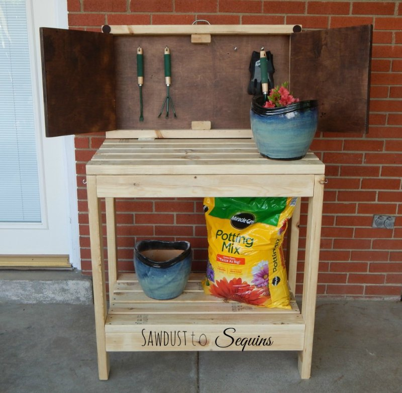 12 Potting Bench Plans Which Are Easy Peasy And Really